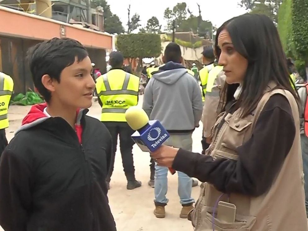 PHOTO: Rodrigo Heredia, a 13-year-old student of the Enrique Rebsamen primary and secondary school, told a reporter that he escaped the destroyed school Tuesday because of an earthquake drill held earlier in the day.