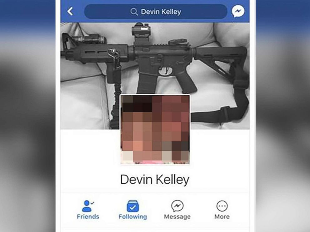 PHOTO: The Facebook profile associated with suspected church shooter Devin Kelley showed an AR-style weapon.