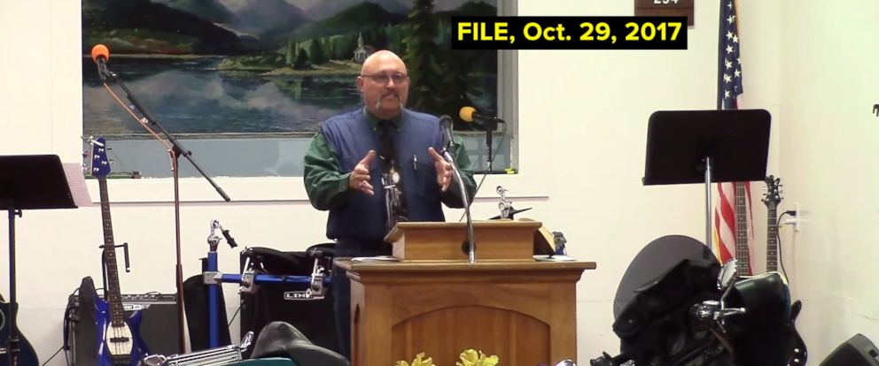 PHOTO: A grab made from video posted to YouTube on Oct. 29, 2017 shows Pastor Frank Pomeroy delivers a sermon at the First Baptist Church of Sutherland Springs, Texas. Pomeroy was not killed in the Nov. 5 shooting.