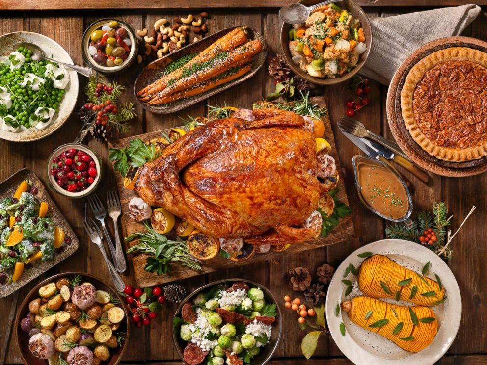 A Thanksgiving meal is pictured in this undated stock photo.