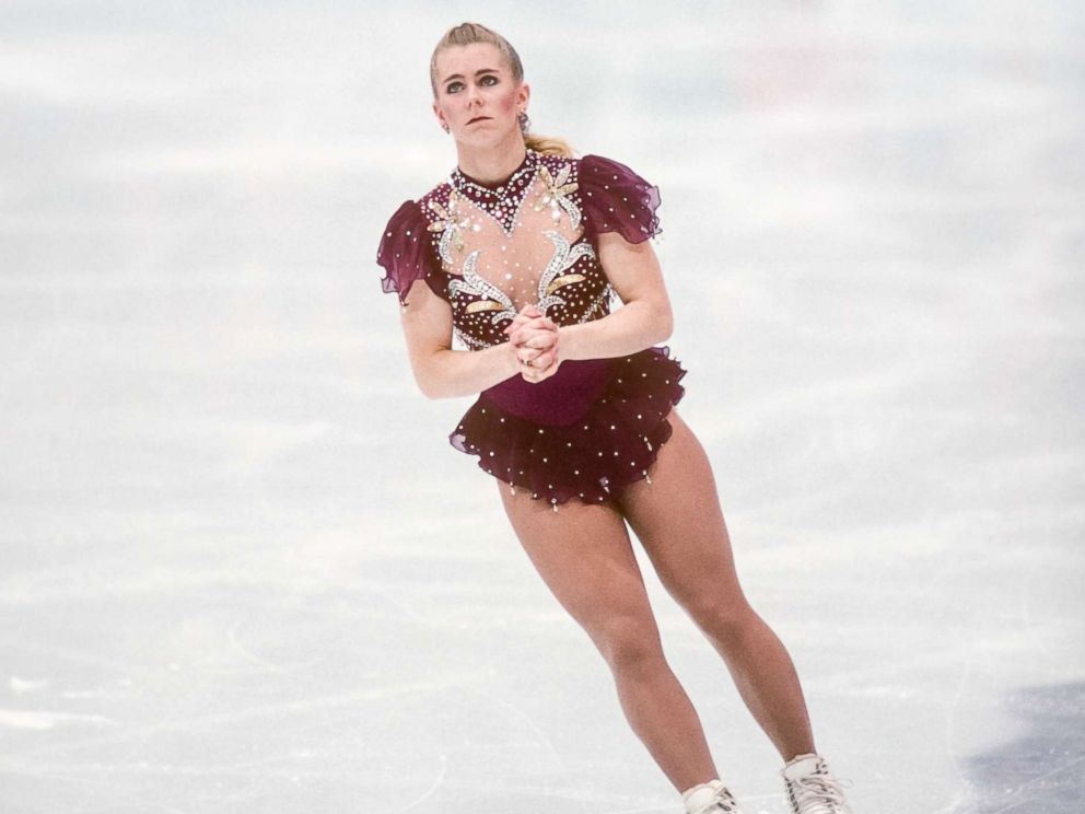 PHOTO: Tonya Harding of the USA competes in the Free Skate portion of the Womens Figure Skating competition of the 1994 Winter Olympics, Feb. 25, 1994, at the Hamar Olympic Hall in Lillehammer, Norway.