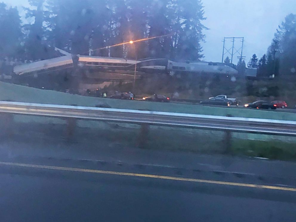 PHOTO: A train derailed in Washington state, Dec. 18, 2017.