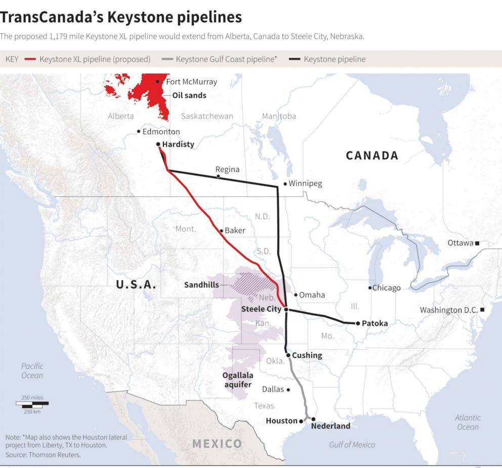Transcanada Keystone Map Rtr Jc X on Keystone Pipeline Route Map