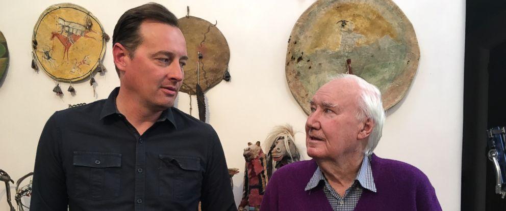 PHOTO: ABC News Clayton Sandell with antique dealer Forrest Fenn.