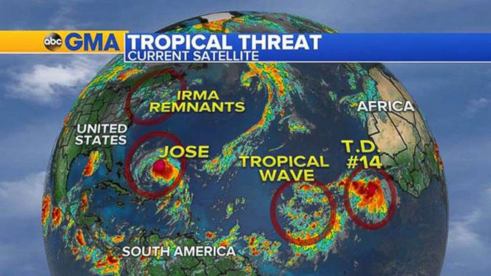 Jose Downgraded to Tropical Storm: NHC