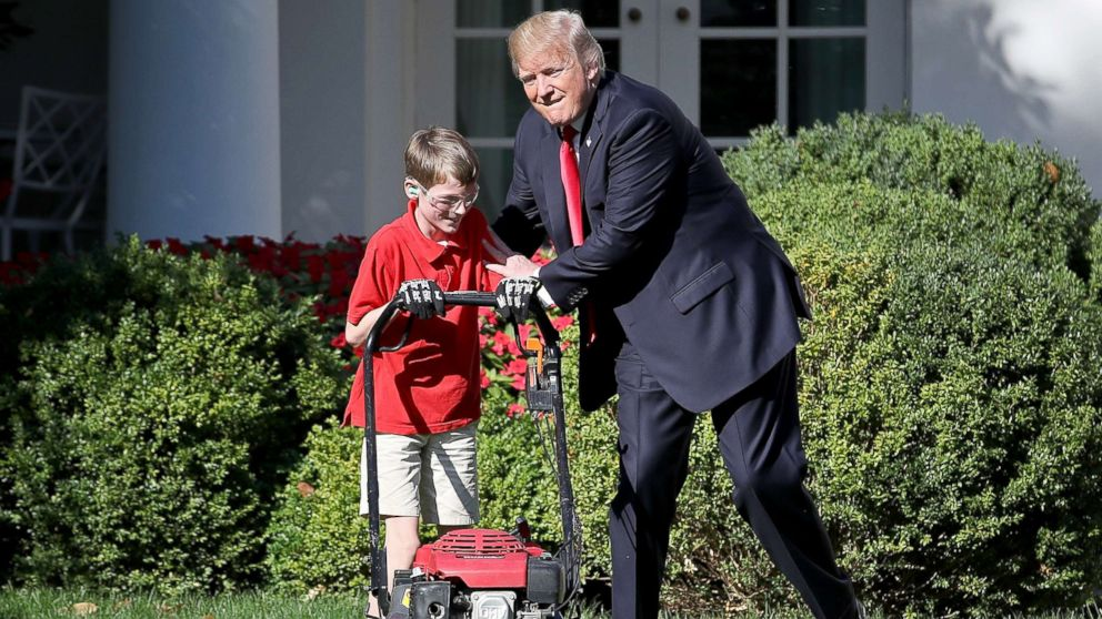11-year-old who mowed White  House  lawn said he wanted to charge Trump his 'regular price'