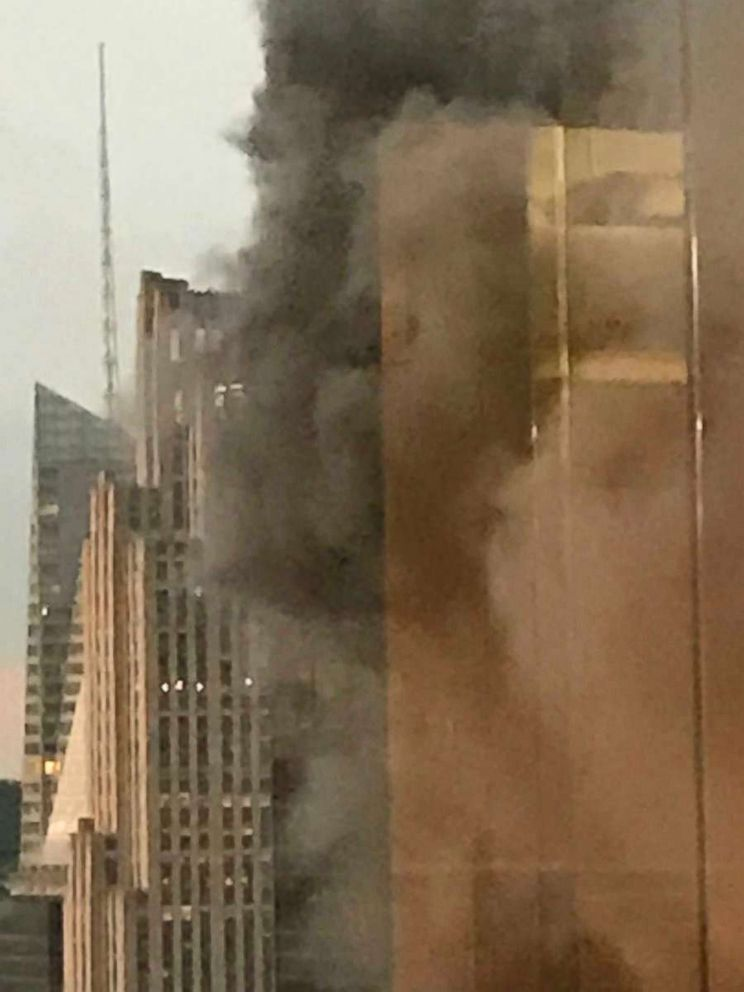 firefighter among 3 injured in trump tower rooftop fire