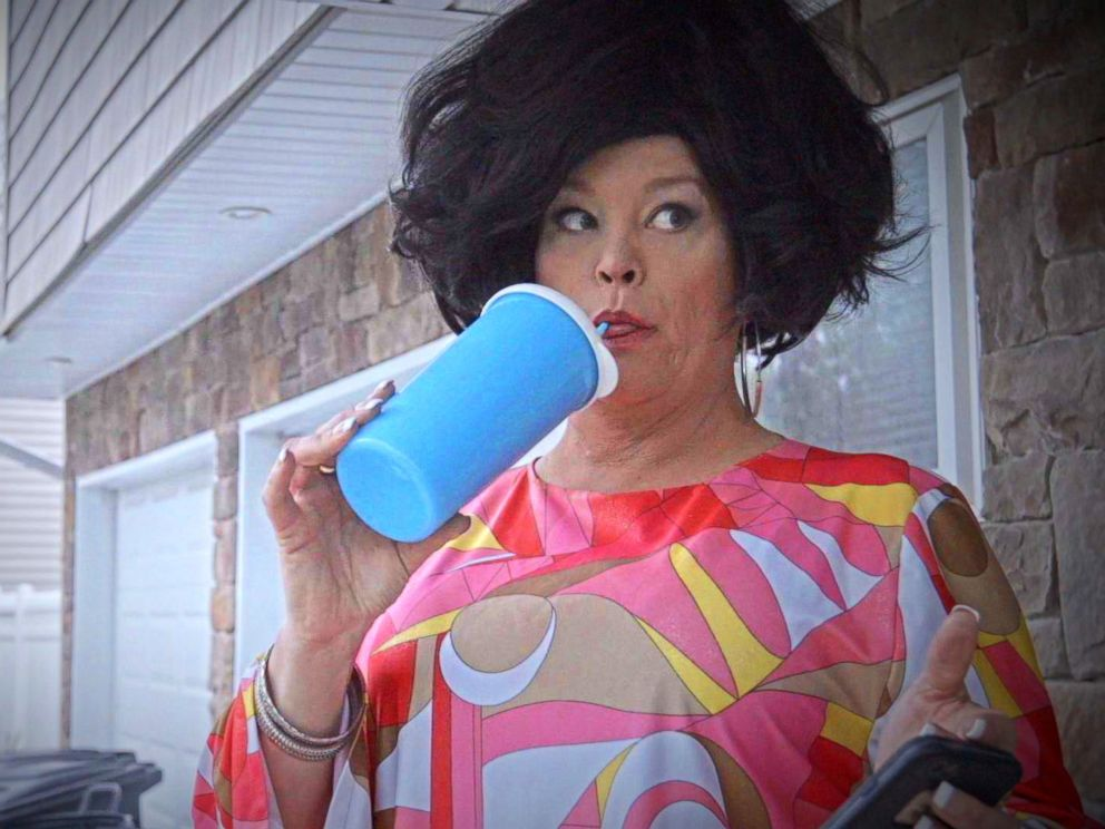 PHOTO: Jennifer Bobbi pictured as the character of Aunt Barbara in Commack, NY.