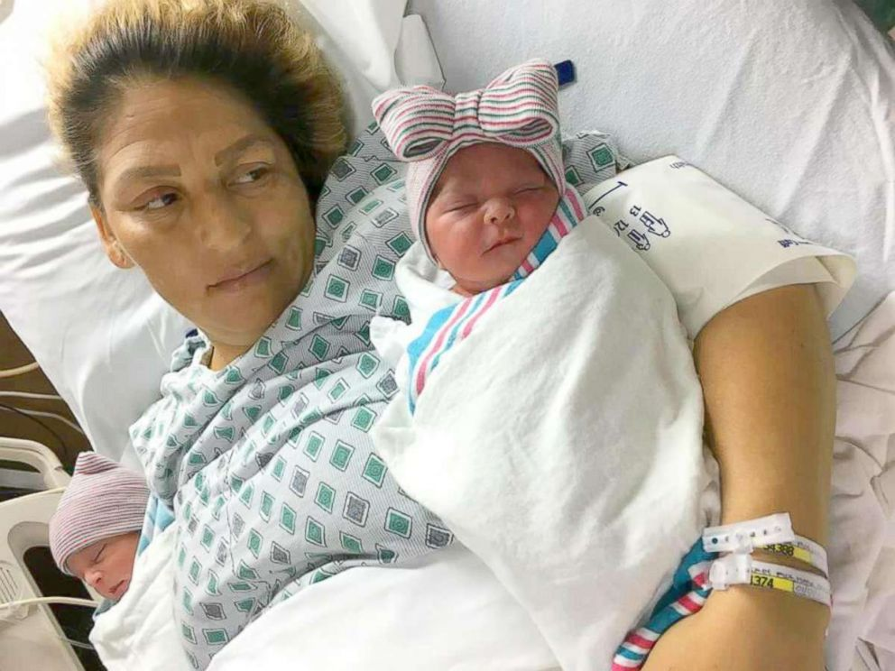 PHOTO: Southern California resident Maria Esperanza Flores Rio, 39, gave birth to New Years twins in two different years.