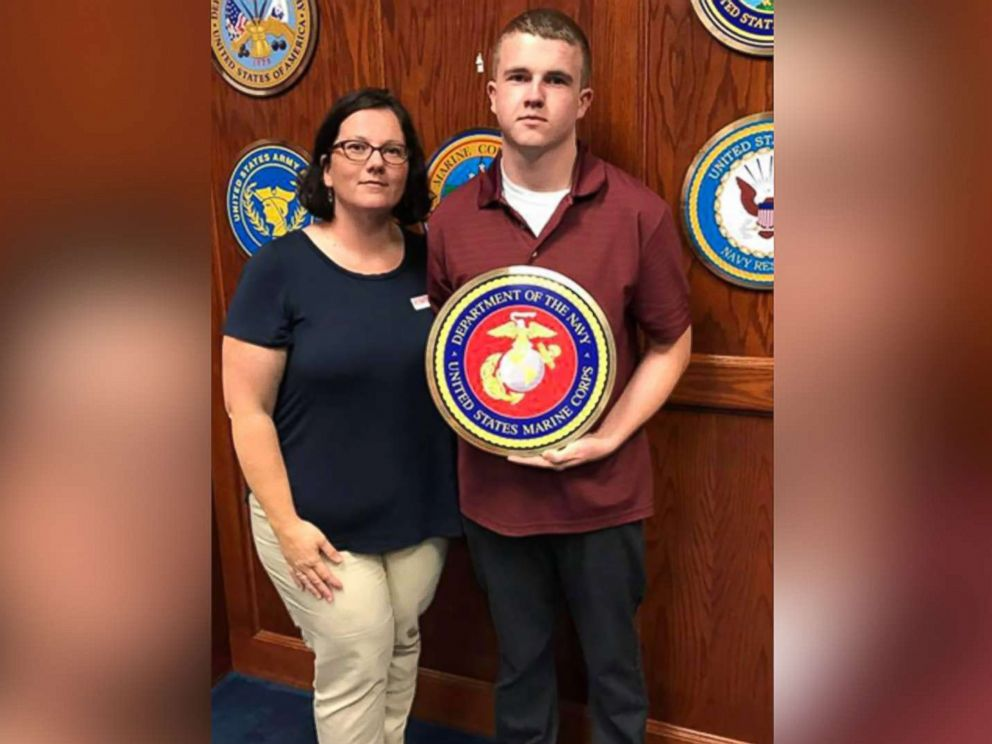 PHOTO: Tyler Jarrell, 18, appears in an undated photo with his mother, Amber Duffield. Jarrell was killed Wednesday after a ride malfunctioned at the Ohio State Fair.
