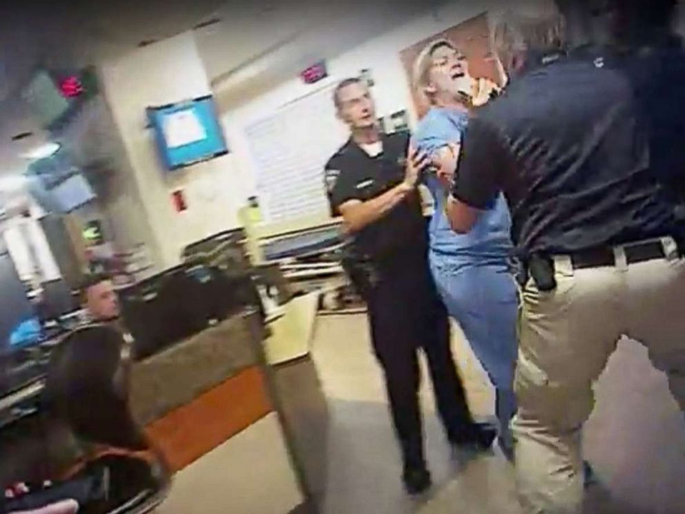 PHOTO: In this July 26, 2017, frame grab from video taken from a police body camera, nurse Alex Wubbels is pictured during an incident at University of Utah Hospital in Salt Lake City, Utah.