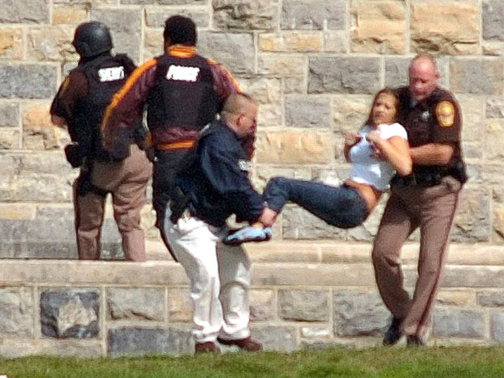 PHOTO: An injured person is carried out of Norris Hall at Virginia Tech in Blacksburg, Va., April 16, 2007. Seung-Hui Cho, a senior at the school, killed 32 people before killing himself.