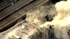 VIDEO: Firefighters are battling a three-alarm building fire in East Harlem.