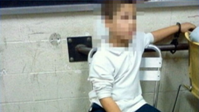 VIDEO: The 7-year-old was reportedly handcuffed by New York police for hours after hitting a schoolmate.