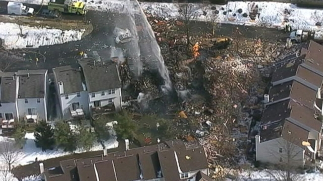 Gas Explosion Destroys NJ Home Blast at a condominium complex in Ewing, N.J., injured at least 7 people.