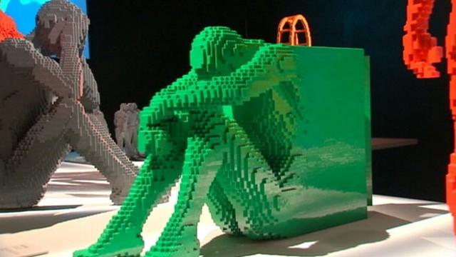 artist turns lego bricks into giant works of art video