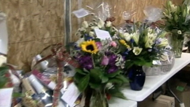 VIDEO: People from around the world send cards, flowers and Christmas trees to Newtown.