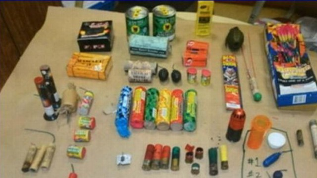 VIDEO: The 16-year-old is under investigation after police found fireworks, shotgun shells in his home.
