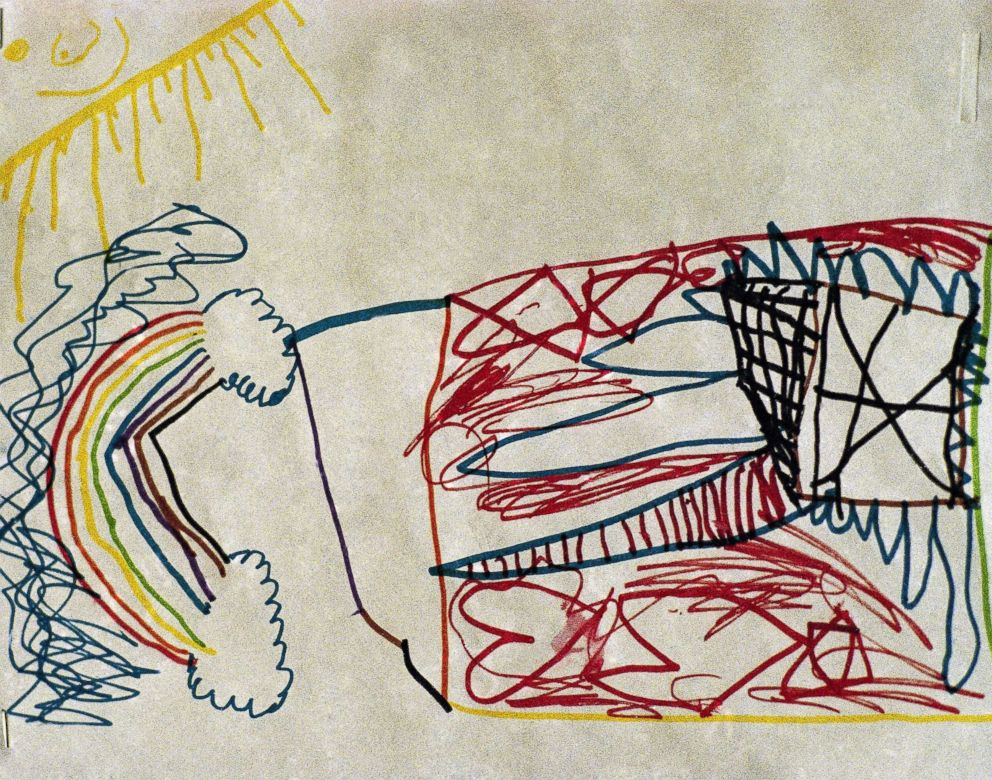 PHOTO: This is a drawing by a child in Houston, Texas, May 4, 1993, who was released from the Branch Davidian compound and interviewed by the Trauma Assessment Team headed by Bruce Perry, MD. Phd. of Taylor College of Medicine.
