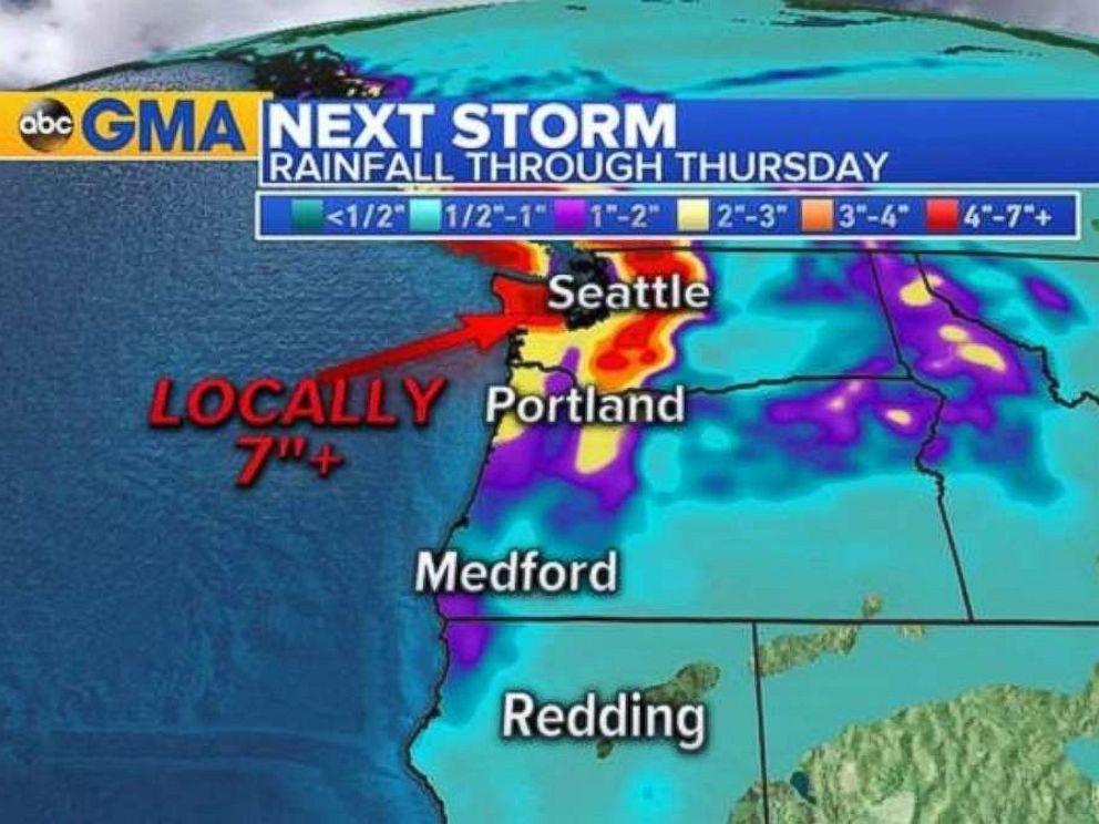 PHOTO: Some areas of the Northwest could see up to 6 inches of rain.
