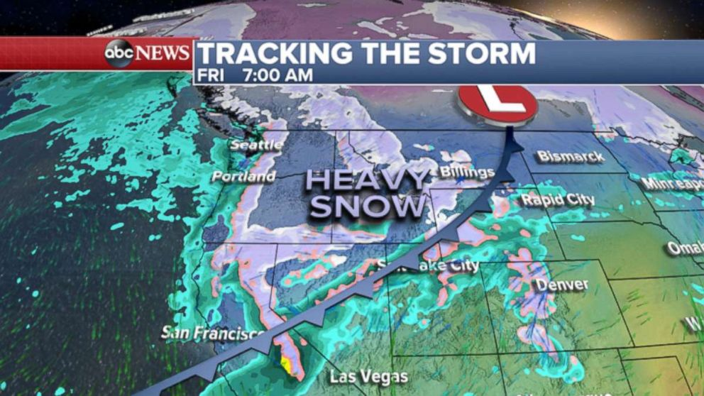 West Coast storm brings snow flooding and elevated fire threat