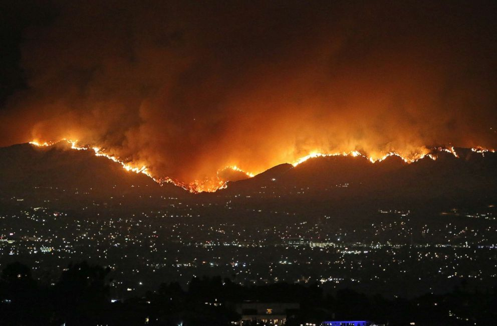 PHOTO: A huge wildfire is seen in Los Angeles, Sept. 1, 2017.