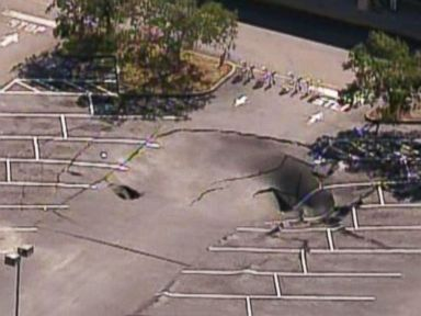 Sinkhole Swallows Part of Florida Shopping Center