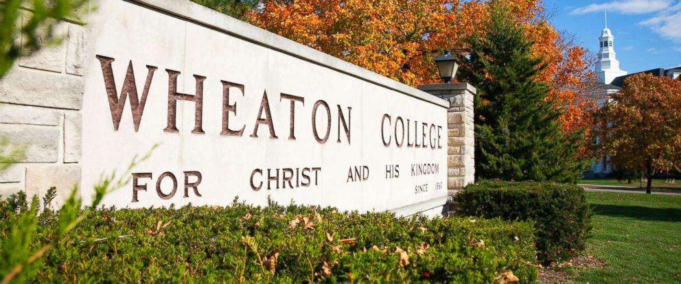 PHOTO: Entrance sign to Wheaton College in Wheaton, Illinois.