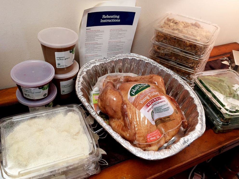 PHOTO: Good Morning America tried out a prepared meal for Thanksgiving dinner from Whole Foods.