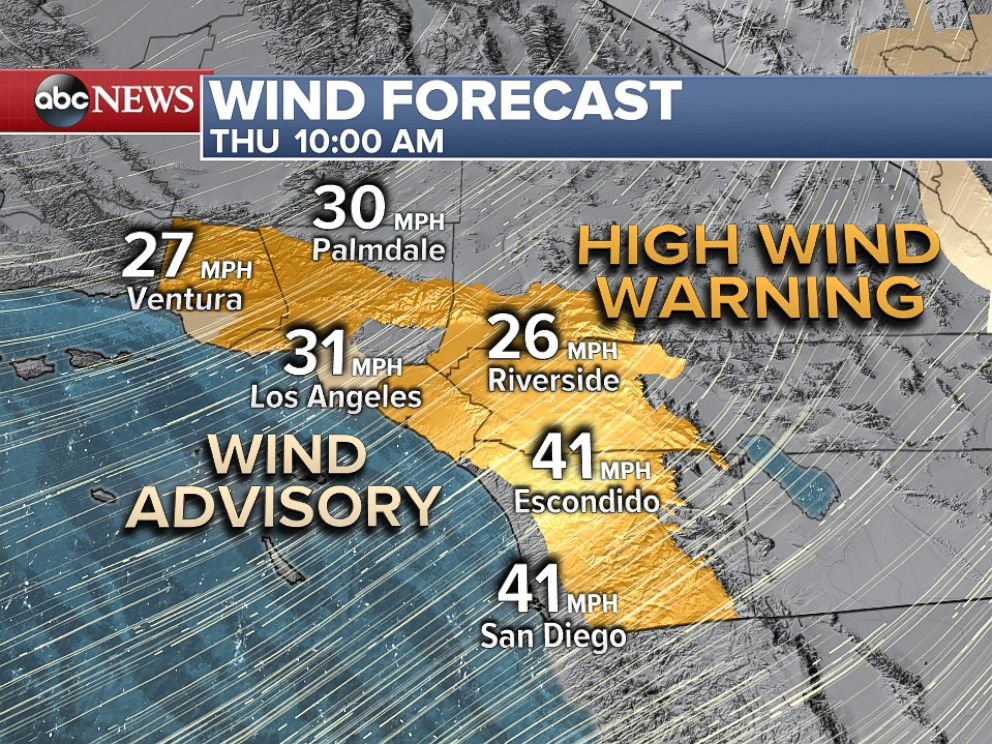 PHOTO: Strong Santa Ana winds on Thursday will bring high fire danger to Southern California.