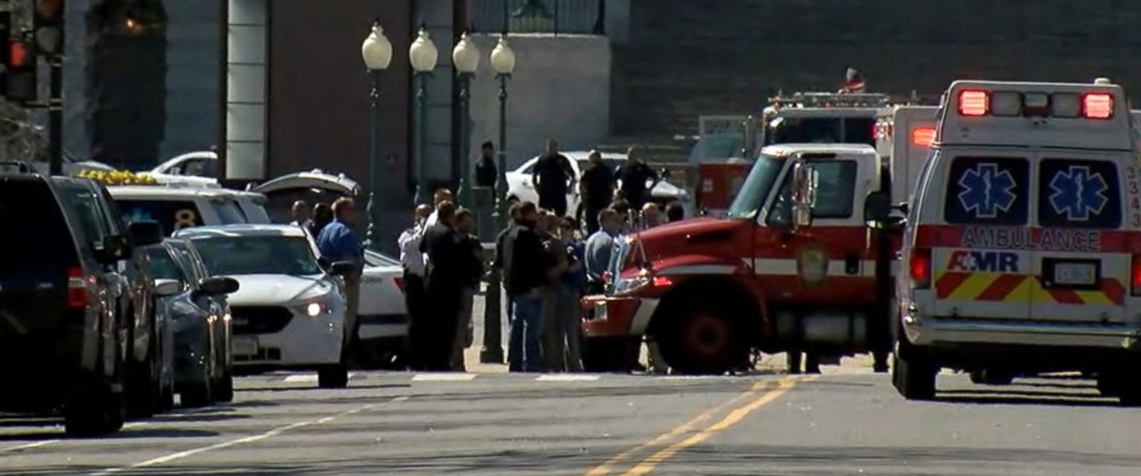 PHOTO: First responders are seen outside the U.S. Capitol in Washington, D.C. on March 28, 2016.