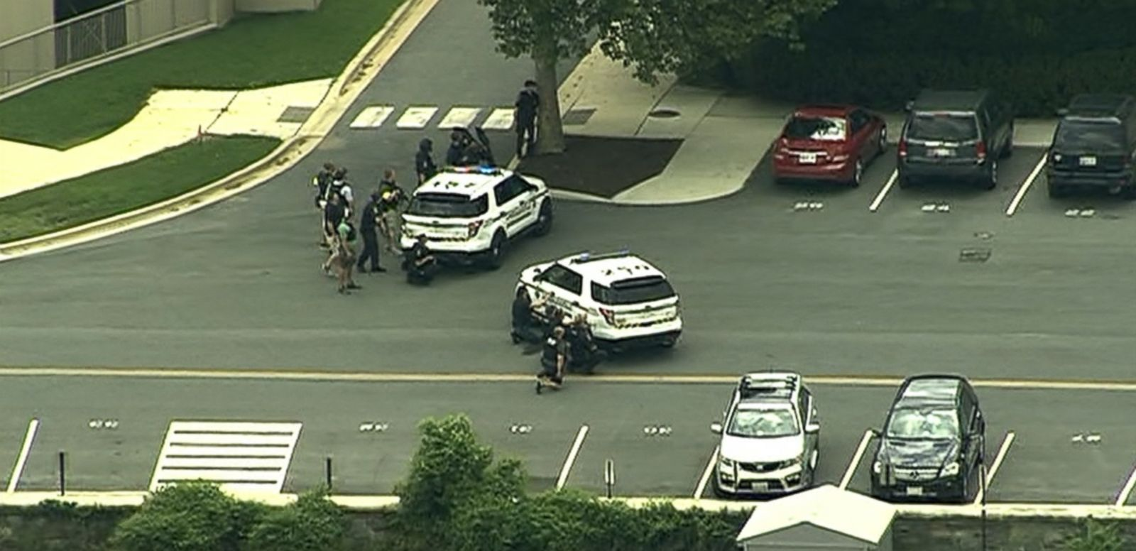 VIDEO: Authorities responded to a suspected 'active shooter' at the facility near Bethesda, Maryland after an unconfirmed report of a single gunshot.