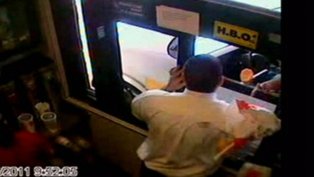 VIDEO: The Florida educator allegedly flung breakfast potatoes at a fast-food employee.