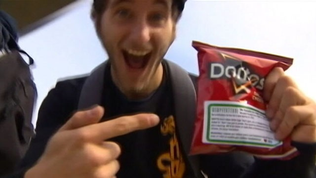 VIDEO: Police ran out of the snack in 10 minutes while using it to advertise new marijuana laws.