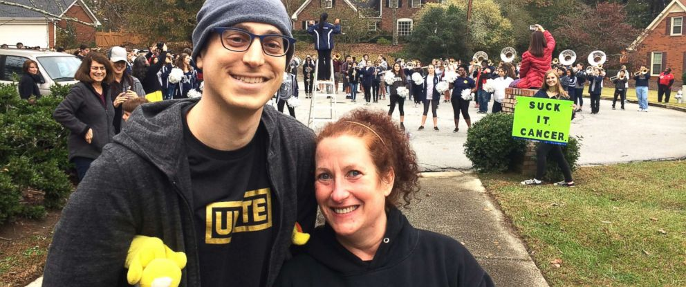 PHOTO: Alane Levy, a registered nurse, said she thought of reaching out to the Norcross High School marching band when she realized that Josh Libman was on a hospital floor that did not have a traditional bell for him to ring.