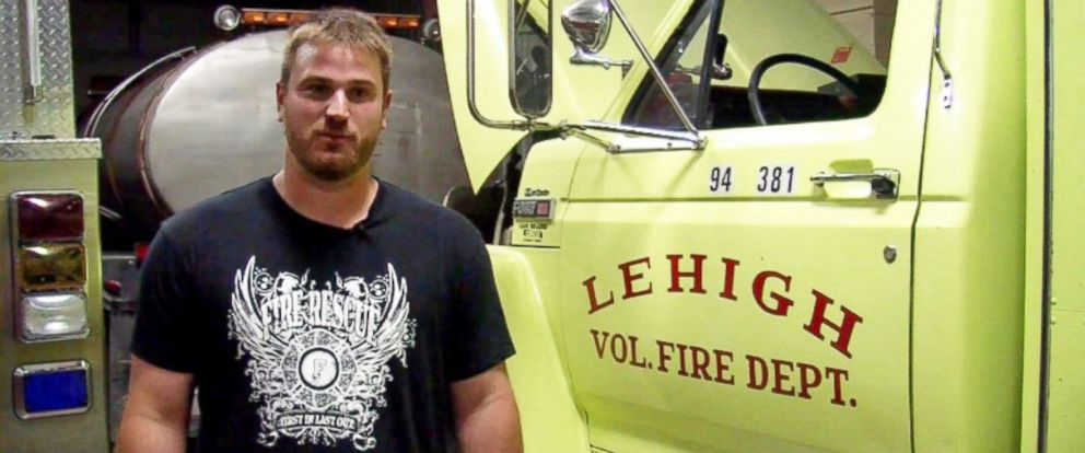 PHOTO: The chief of the volunteer Lehigh Fire Department in Central Iowa, Kirk Kelley, has been hunger striking in an attempt to help raise money for a new firehouse.