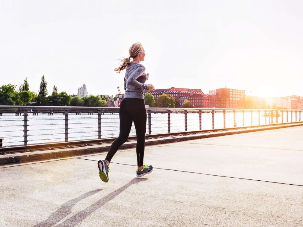 PHOTO: A woman is pictured jogging in this undated stock photo.