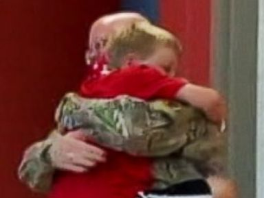 Soldier Dad Makes Surprise Appearance at Son's Summer Camp