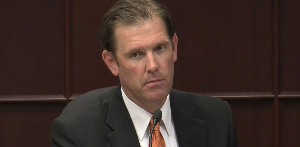 PHOTO: Police Lt. Matthew Kohr testifies in a Raleigh, N.C. court on May 6, 2015 as part of his lawsuit against Starbucks because he burned himself after hot coffee spilled on him in 2012.
