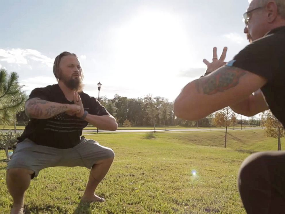 PHOTO: Army veteran Buddy Richs weight increased to over 300 pounds and he fell into a severe depression after a 2011 semi-truck accident crushed his hip and legs. He lost 125 pounds through a yoga plan of former pro wrestler Diamond Dallas Page, right.
