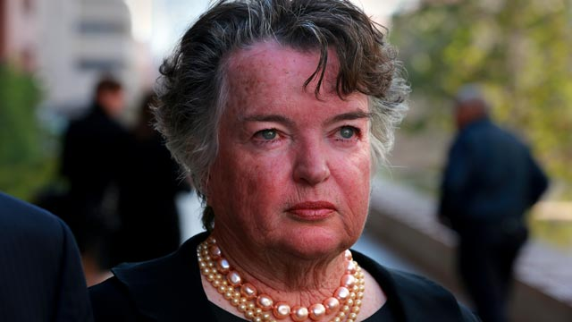 PHOTO: Former San Diego mayor Maureen OConnor leaves federal court, Feb. 14, 2013, in San Diego.