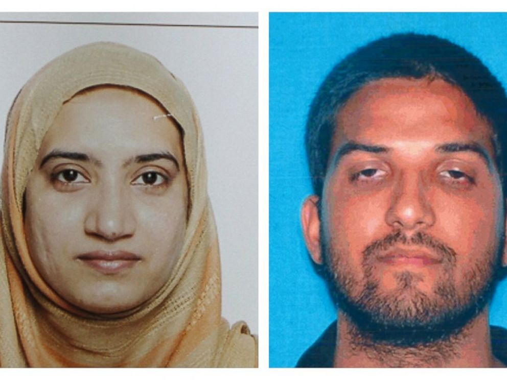 PHOTO:This undated combination of photos provided by the FBI, left, and the California Department of Motor Vehicles shows Tashfeen Malik, left, and Syed Farook.