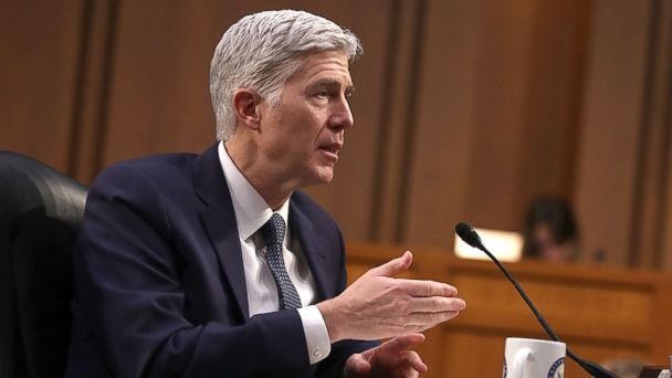 PHOTO: Judge Neil Gorsuch testifies during the third day of his Supreme Court confirmation hearing before the Senate Judiciary Committee in the Hart Senate Office Building on Capitol Hill, March 22, 2017, in Washington.