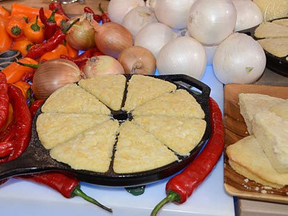 Elizabeth Karmel's Vidalia Cornbread, is a great recipe seen on Good Morning America.