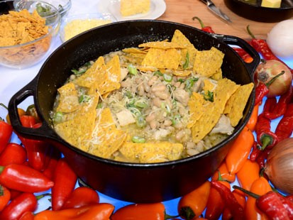 Elizabeth Karmel's Tennessee White Chili, is a great recipe seen on Good Morning America.