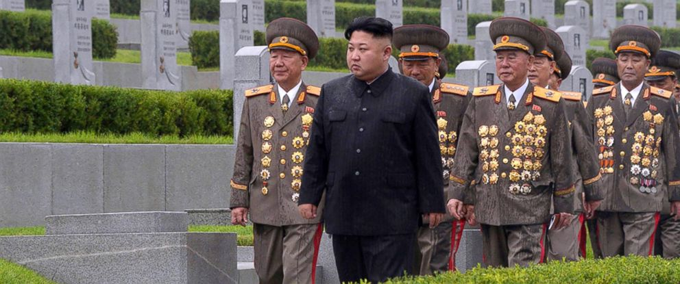 PHOTO: This photo taken on July 27, 2017 and released on July 28, 2017 by North Koreas official Korean Central News Agency (KCNA) shows North Korean leader Kim Jong-Un visiting the Fatherland Liberation War Martyrs Cemetery in Pyongyang.