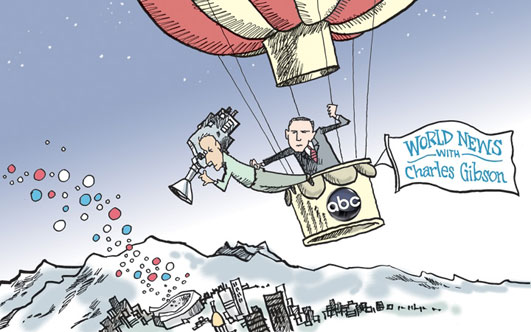 """World News with Charles Gibson"" Political Cartoon"
