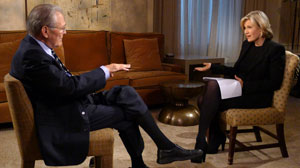 """PHOTO Former Defense Secretary Donald Rumsfeld sat down with Diane Sawyer for an exclusive interview about his new book """"Known and Unknown."""""""