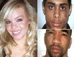 PHOTO Katie Piper is shown with the two men accused of attacking her with acid.