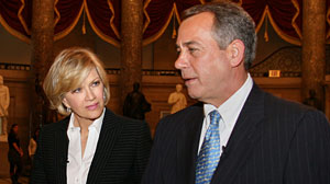 Photo: Diane Sawyer interviews John Boehner